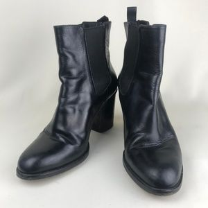 Cole Haan GRAND.OS Black Leather Slip-on Boots 9B